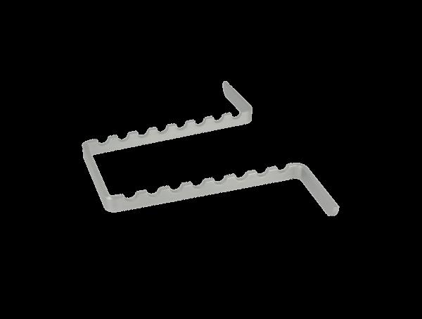 Euronda Instrumenteneinsatz Aluminium für Minitrays 8