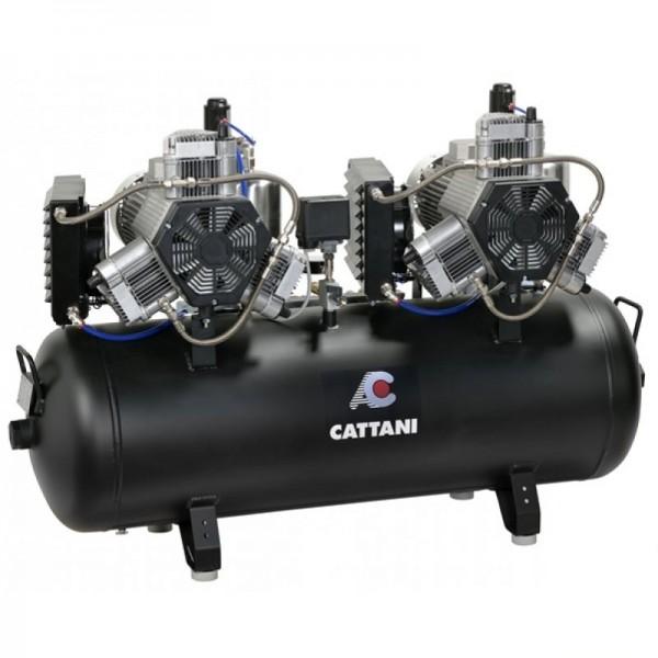 Cattani 3 Zylinder Tandem Kompressor mit 150 l Tank für 6-8 Behandler