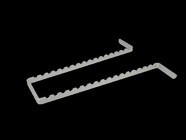 Euronda Instrumenteneinsatz Aluminium für Normtrays 17