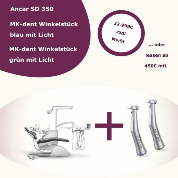 Sonderangebot Ancar SD 350 + MK-Dent Winkelstücke grün und blau
